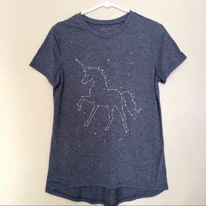 Zoe + Liv   Blue Unicorn Constellations T Shirt
